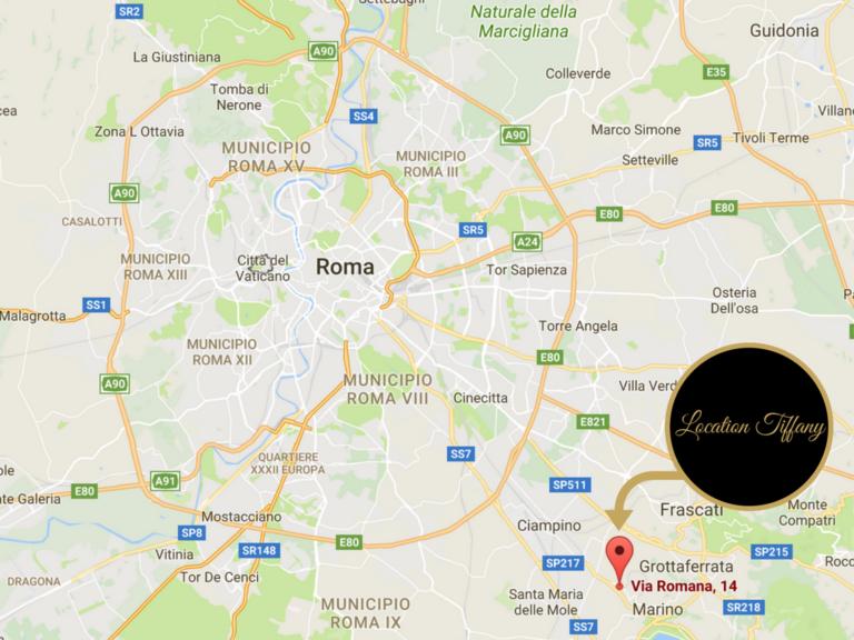 Mappa contatti Location Tiffany